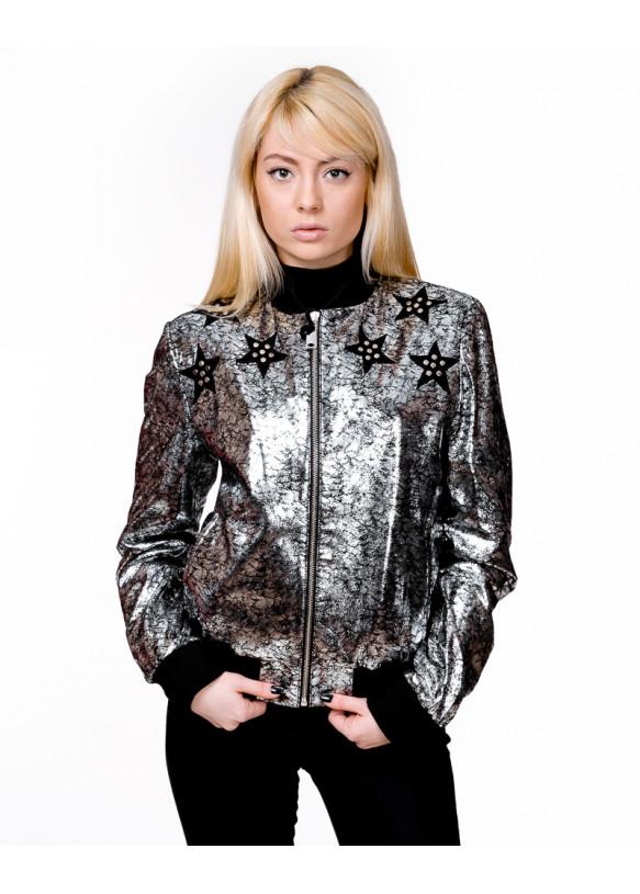 Женская кожаная куртка AC-329 Y110 ZIG 057