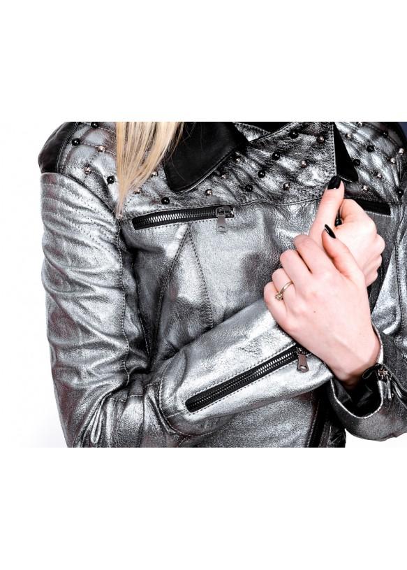 Женская кожаная куртка косуха 1648 Y110 ZIG 057