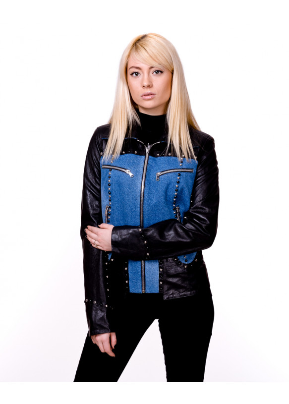 Женская кожаная куртка 1606 Y110 JUMBO 057