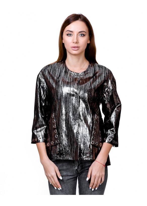 Женская кожаная куртка AC-336 Y110 ZIG 057