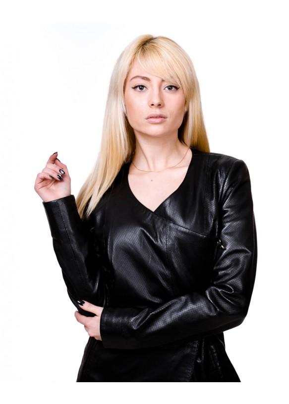 Женский кожаный плащ 790 Y90 PERF 057