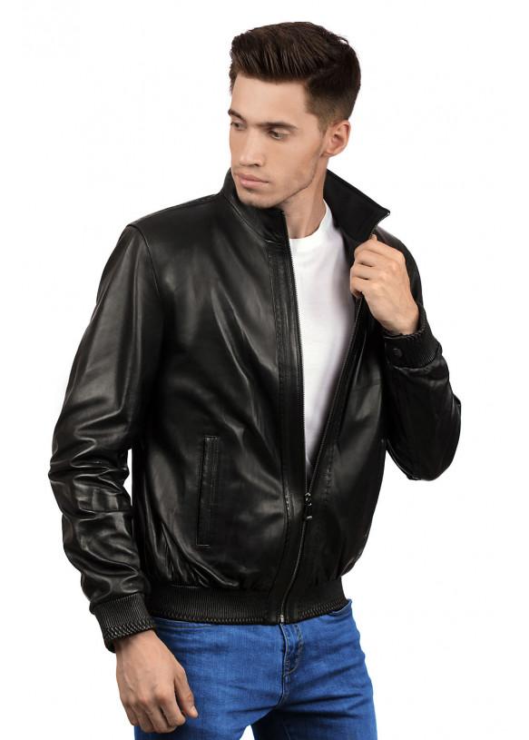 Мужская кожаная куртка 8402 Y115 ZIG 086