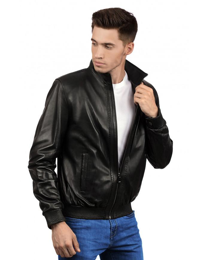 Мужская кожаная куртка 8402 Y115 ZIG 086 - интернет-магазин Alberta