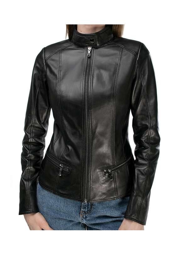 Женская кожаная куртка Z-8/0921 ZIG 112