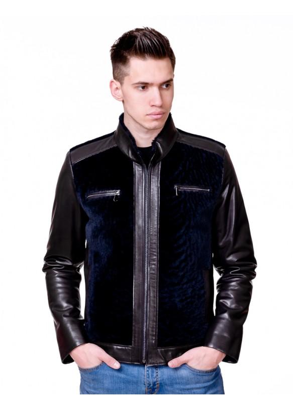 Men's sheepskin coat 8707 (0001А) Y105 ASTRAGAN 055