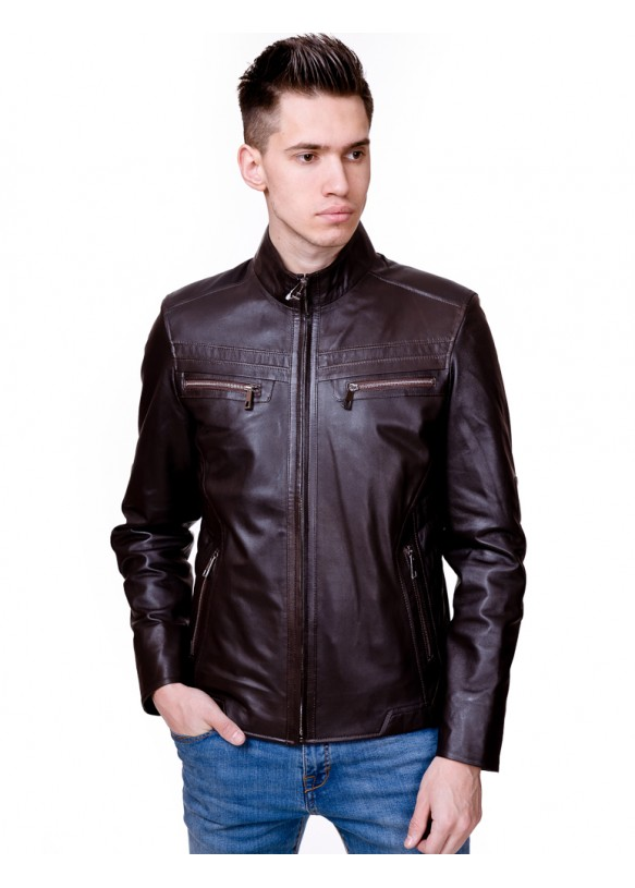 Мужская кожаная куртка N.2862 Y120 ZIK 029