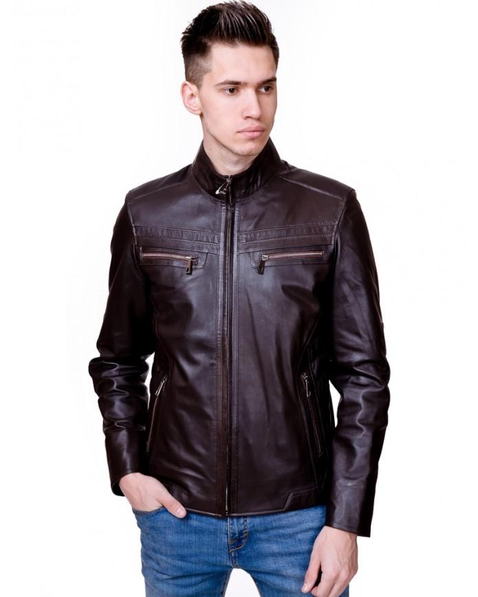 Мужская кожаная куртка N.2862 Y120 ZIK 029 - интернет-магазин Alberta