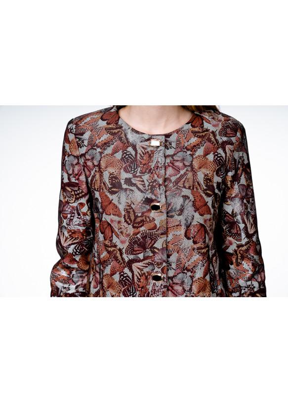 Женская кожаная куртка NB-93 Y100 ZIG 055
