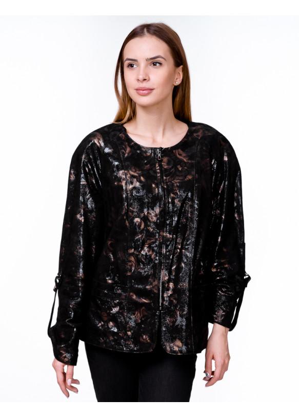 Женская кожаная куртка NB-74 (0000) Y100 ZIG 055