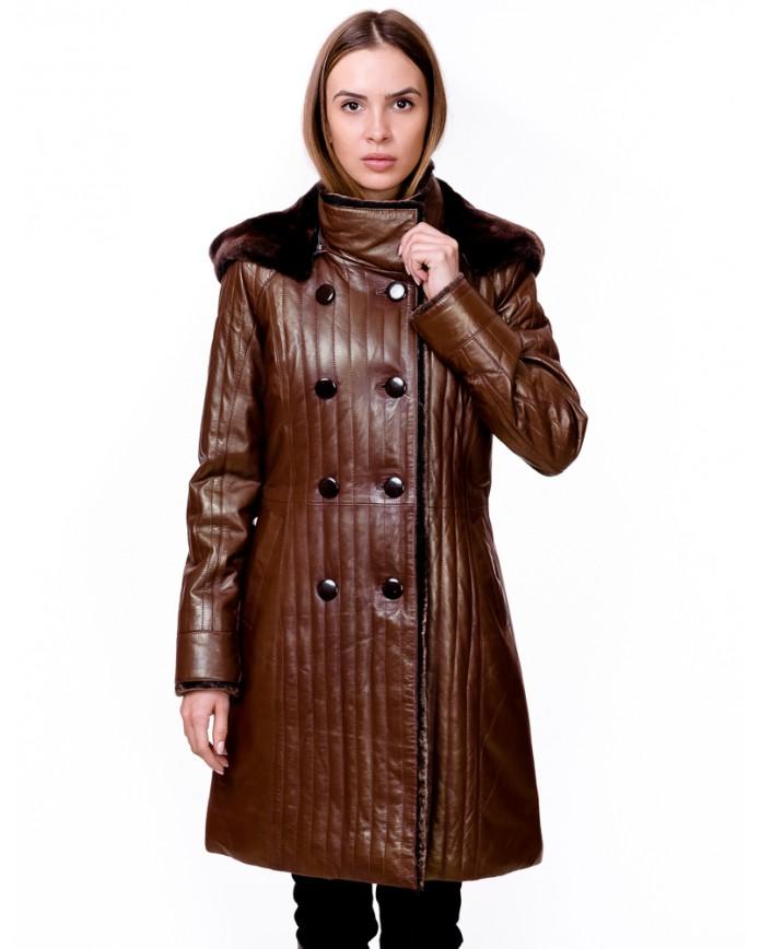 Women's sheepskin coat V 3009 Y 80 MONTANA ICLIK 003 - интернет-магазин Alberta
