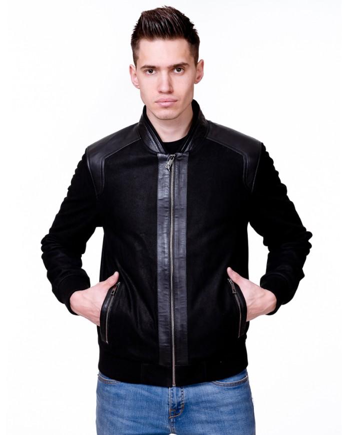 Мужская кожаная куртка N.8062 Y100 PUNTO 029 - интернет-магазин Alberta