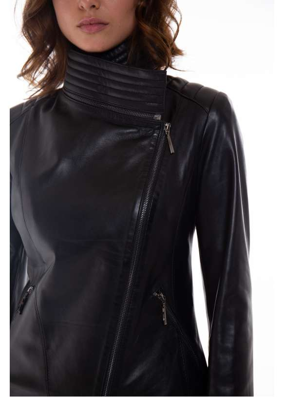 Женская кожаная куртка-трансформер  transformer/1021 ZIG 112