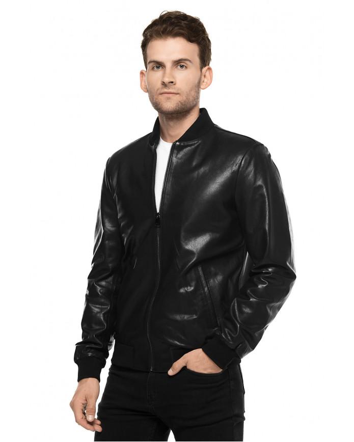 Кожаная куртка   NCOLLEGE VEGETAL 097 - интернет-магазин Alberta