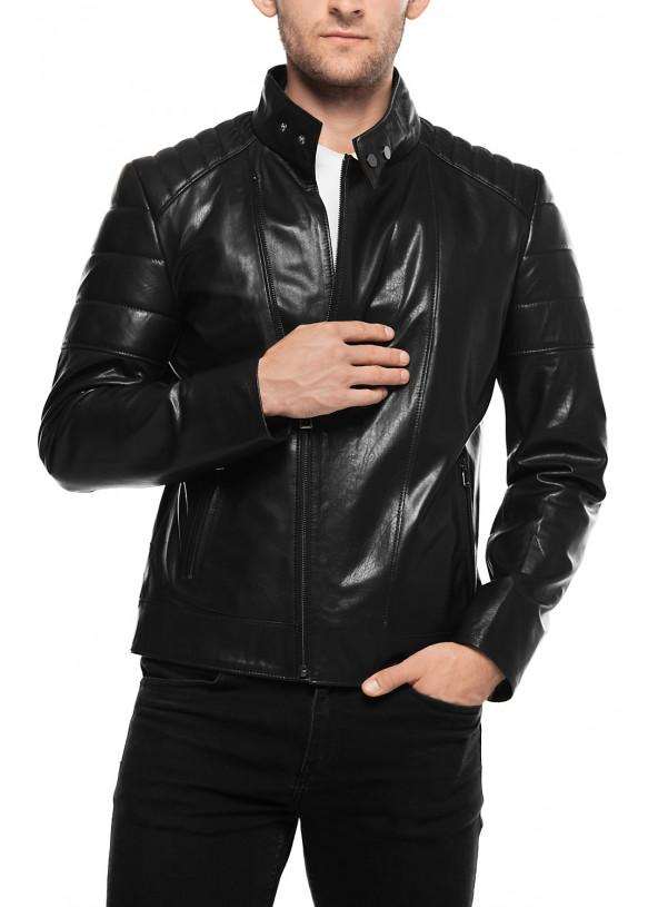 Кожаная куртка N1986 VEGETAL 086