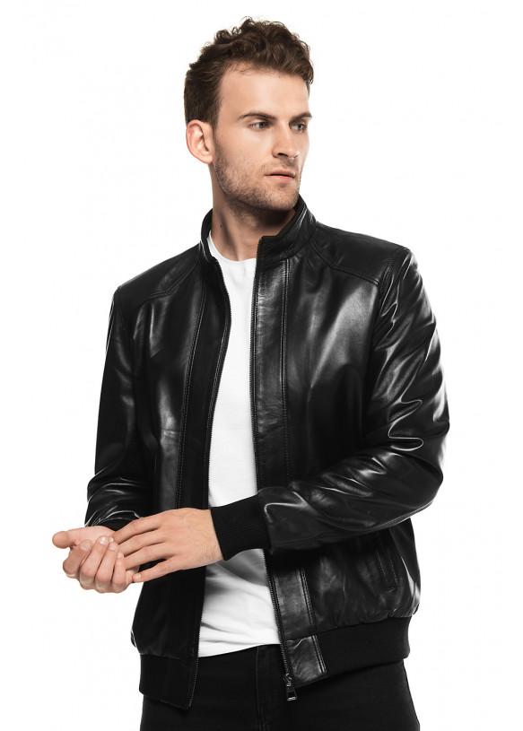 Кожаная куртка N8610 VEGETAL 097