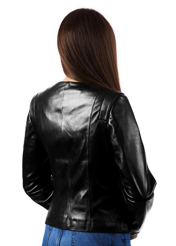 Женская кожаная куртка GG0921 ZIG 112