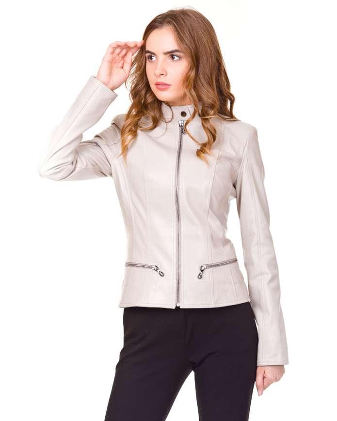 Women's leather jacket    Z-8 Y120 ZIG 029