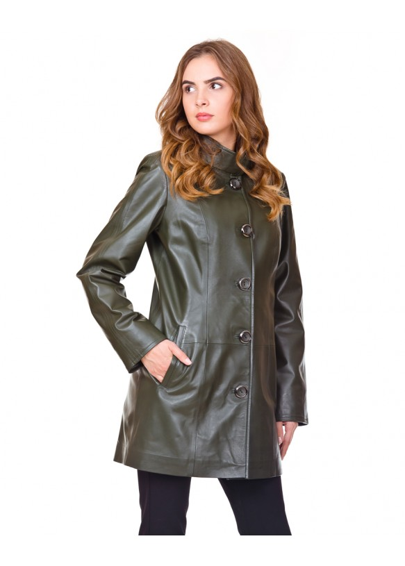 Женская кожаная куртка Z-09 Y110 ZIG 029