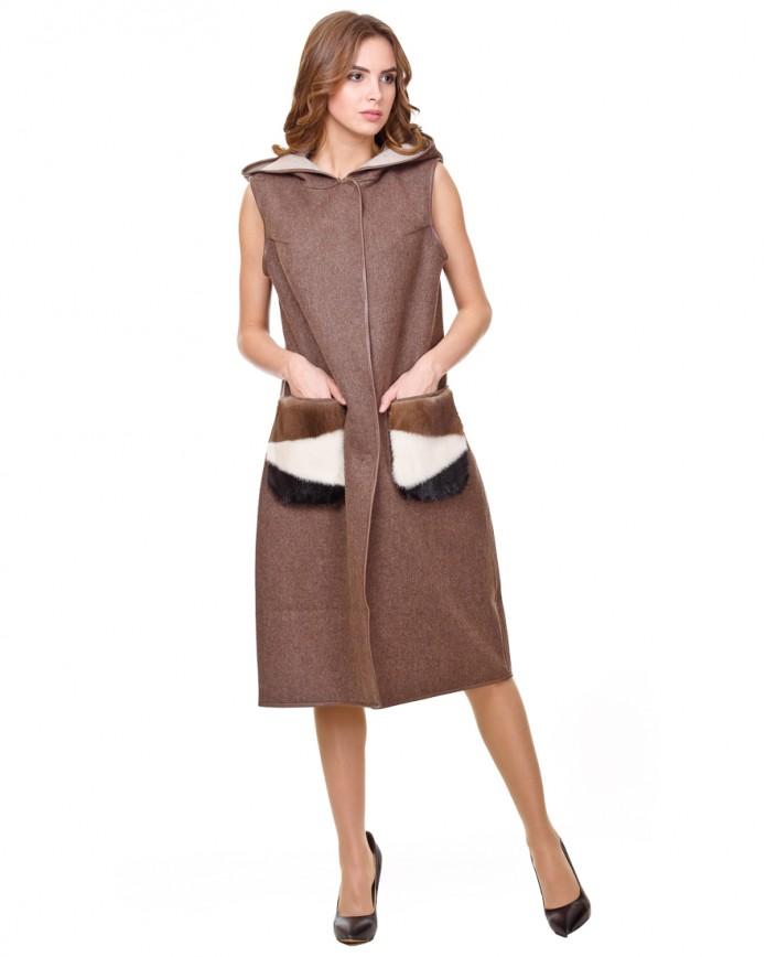 Жіноче манто з альпаки 15193/A Y70 ALPAKA 102 031 - интернет-магазин Alberta